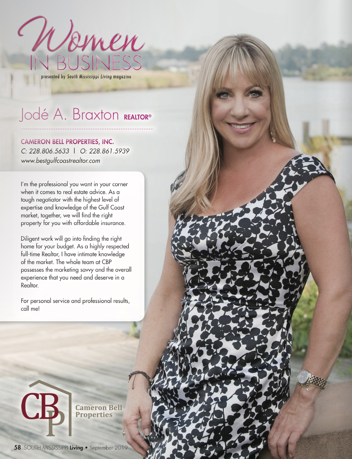 Jode' Braxton, South Mississippi Living, Women in Business Sep 2019